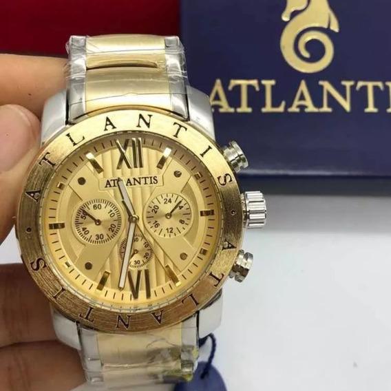 10 Relógios Originais Atlantis Várias Cores Atacado Revenda