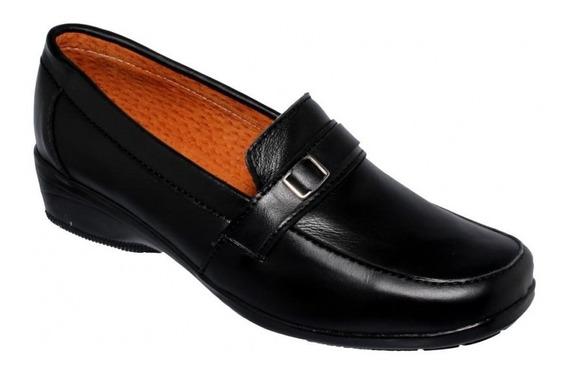Comodo Zapato Para Dama Marca Camino Suave Simipiel Negro 5