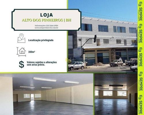 Imagem 1 de 18 de Loja Para Alugar, 300 M² - Alto Dos Pinheiros - Belo Horizonte/mg - Lo0096