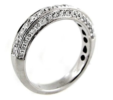 Lindo Pavê De Diamantes Em Ouro Branco 18k!!