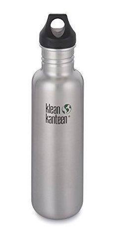Klean Kanteen Botella De Agua Clásica Con Tapa De Lazo, 27