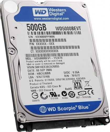 Hd Notebook 500gb Western Digital Blue Scorpio
