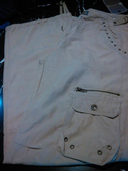Pantalon Piel De Durazno Bolsillos Laterales Dama 20green