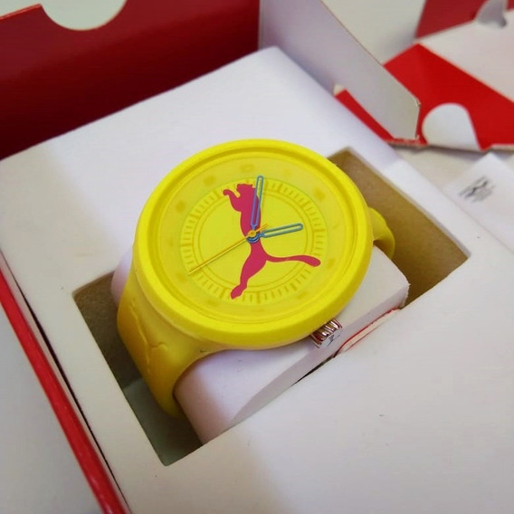 Relógio Puma Analógico Amarelo
