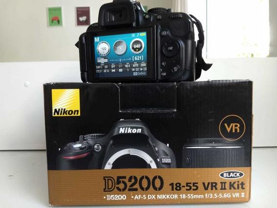 Câmera Nikon D5200 Full Hd Kit 18-55mm + Speedlite Yn568ex (