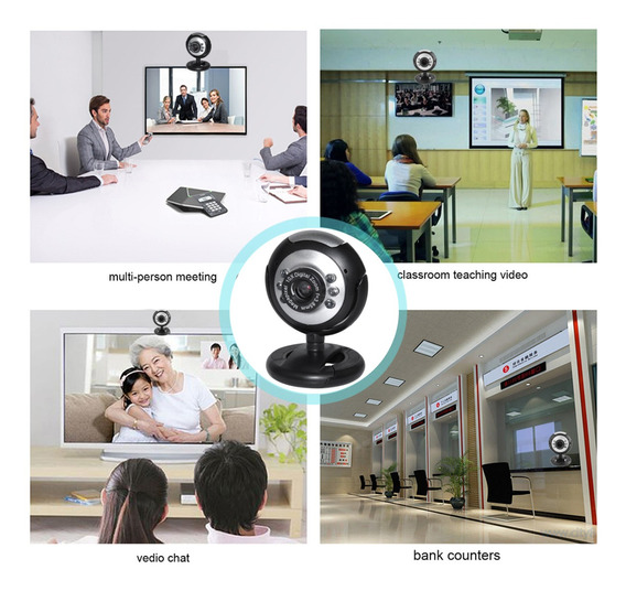 1080p Usb 2.0 360° Webcam Camera Night Vision Web Cam Para