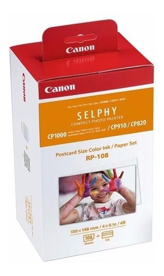 Kit P/ Impressora Fotográfica Canon Rp-108 Papel P/ Selphy