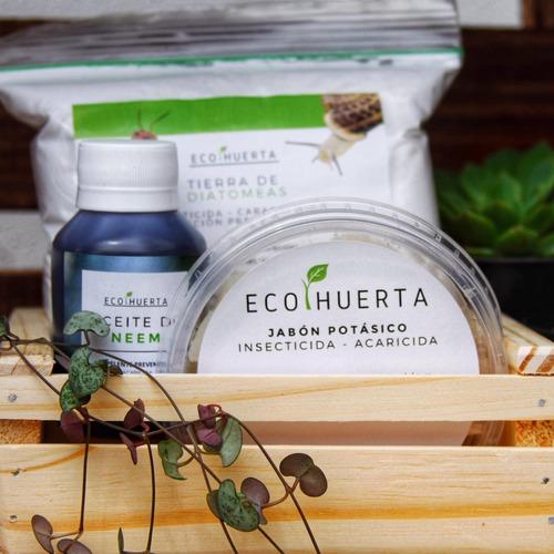 Imagen 1 de 6 de Ecokit: Jabón Potásico + Aceite Neem + Tierra De Diatomeas