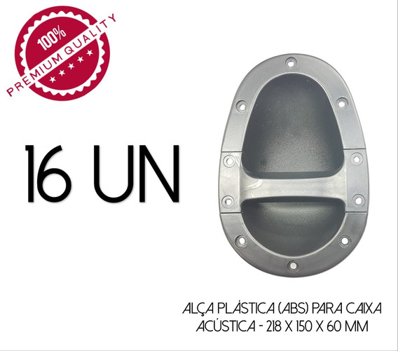 16-alças P/caixa Acústica Madeira-line Array- 218 X 150 Mm