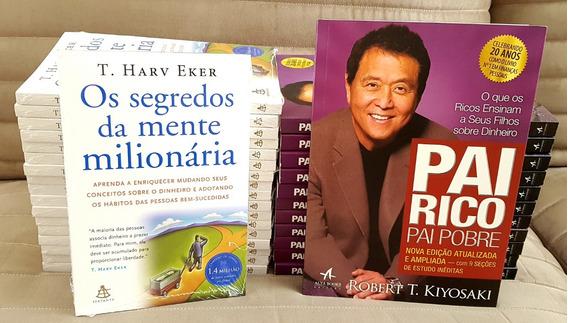 Kit Livros Pai Rico Pai Pobre 20 + Segredos Mente Milionária