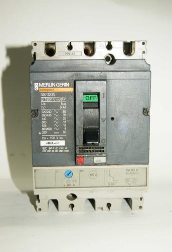 Totalizador  63/80 Amp Trifasico  Ns100n  Tm 80d. 00092