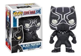 Funko Pop 130 Black Panter Pantera Negra Civil War Marvel