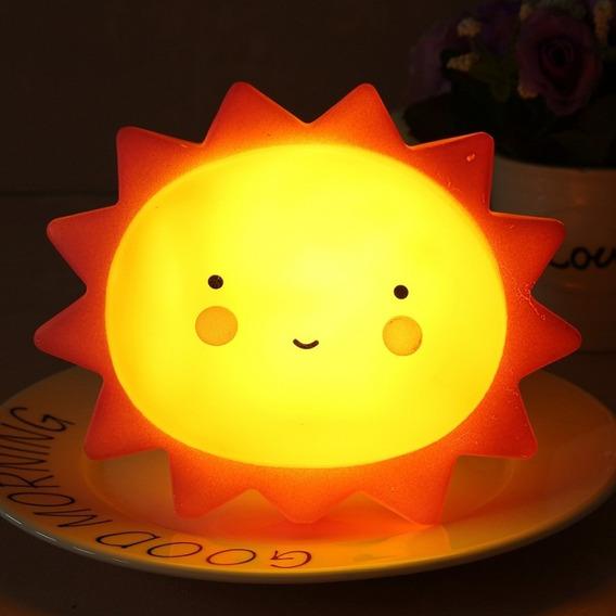 Luminária Mesa Abajur Sol Infantil Led Decoração Festa