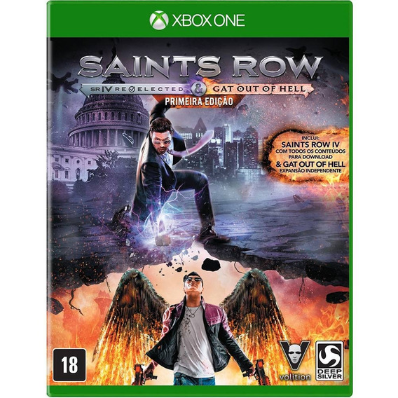Jogo Saints Row Iv Re-elected+gat Out Of Hell Xbox One Novo