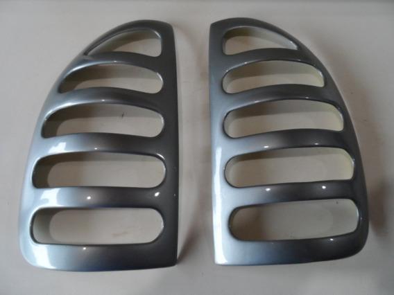 Aplique Mascara Lanterna Traseira Corsa 4p Pick Up Cor Prata