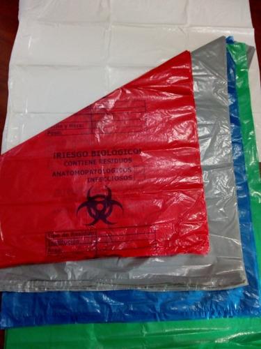 Imagen 1 de 3 de Bolsas Plastica Impresa Hospitalaria Colores Docena 40x50cm