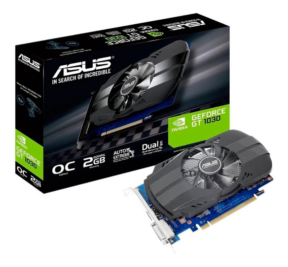 Placa Video Nvidia Gt 1030 2gb Ddr5 Asus Oc Geforce Hdmi Dvi