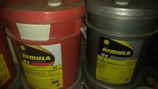 Pailas Aceite Shell Diesel Rimula 50; Ci 15w40 65 Verdes