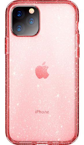 iPhone 11 Pro - Carcasa Transparente Brillos Exclusiva Mujer