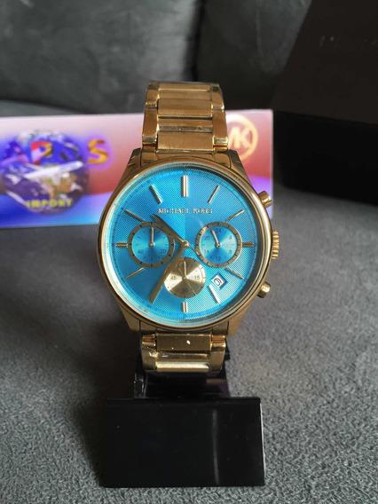 Relógio Michael Kors Mk5910 Dourado Completo Caixa E Manual