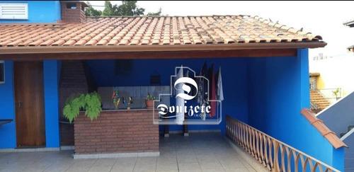 Sobrado Com 3 Dormitórios À Venda, 187 M² Por R$ 635.000,00 - Vila Guiomar - Santo André/sp - So1025