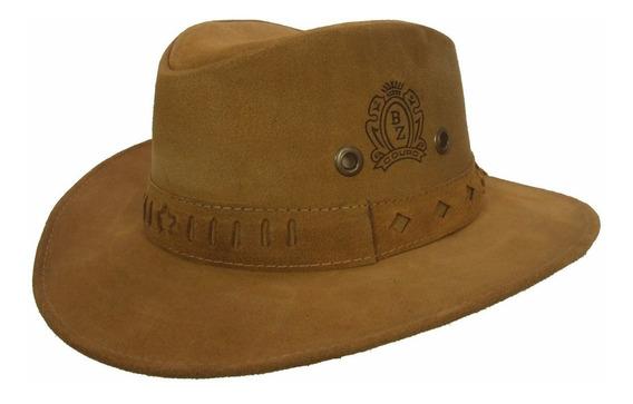Chapéu Country Boiadeiro Cowboy Unissex Couro Ref 237