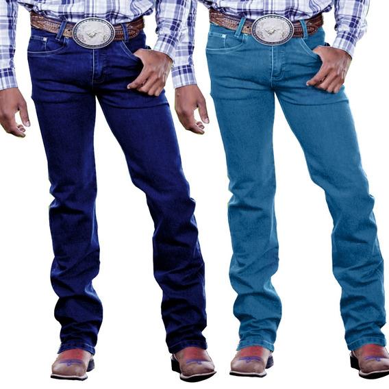 Kit 03 Calça Jeans Masculina Estilo Country Lycra Kaeru