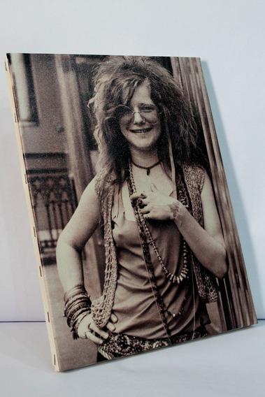 Poster Quadro Janis Joplin Impresso Em Tela