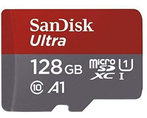 Cartão De Memória Microsdxc 128gb Sandisk 100mb/s A1 Classe