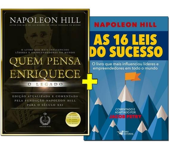 Livro Quem Pensa Enriquece O Legado + As 16 Leis Do Sucesso