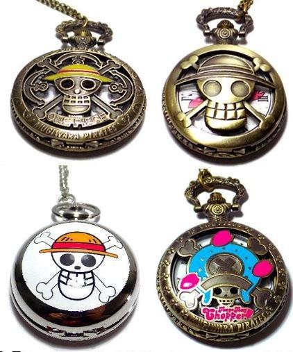 One Piece Reloj Bolsillo Anime Cadena Y Accesorio