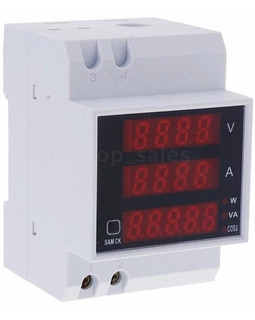 Disjuntor Painel Voltímetro Amperímetro Wattímetro 110v 220v