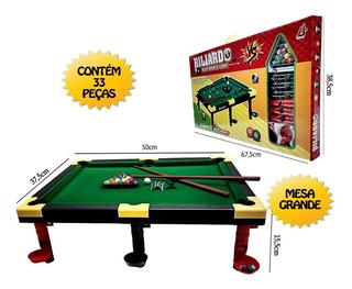 Mesa De Bilhar Snooker Sinuca Infantil Luxo Grande 50 Cm