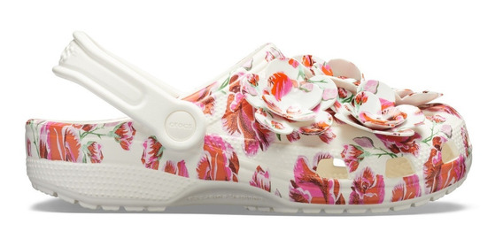 Zapato Crocs Dama Classic Timeless Clash Flores