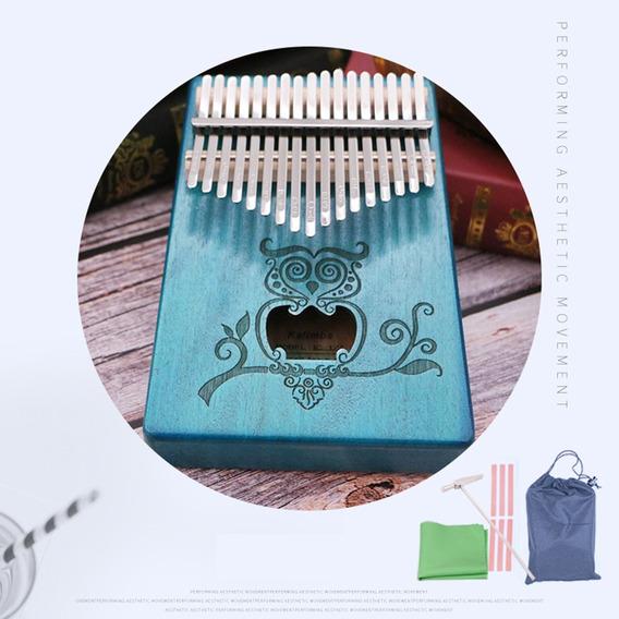 17 Teclas Kalimba Acústica Polegar Piano Chave