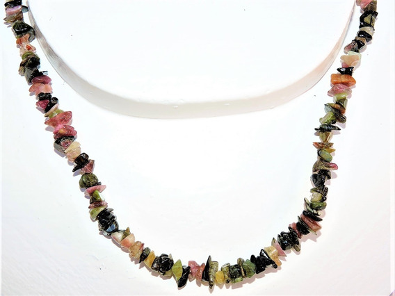 Collar Piedra : Original Natural Turmalina Negra Mix
