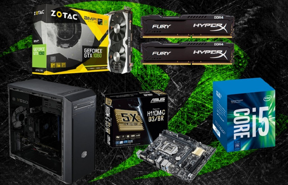 Pc Cpu Gamer Intel I5 7400 / 16gb / Gtx 1060 6gb/ 1tb