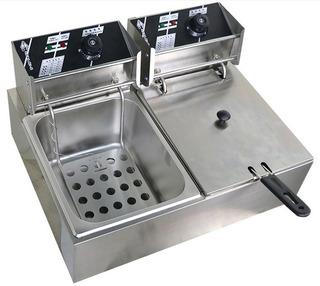 220v Doble Freidora De Cocina Chef Eléctrica Comercial