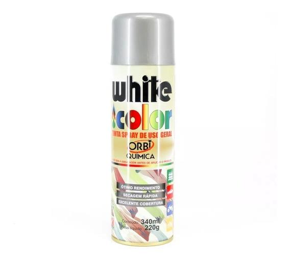 Tinta Spray Aluminio White Color 340ml - Orbi Química
