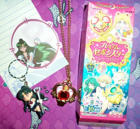 Lote Sailor Moon Colar Chaveiro Setsuna Pluto Garnet Rod