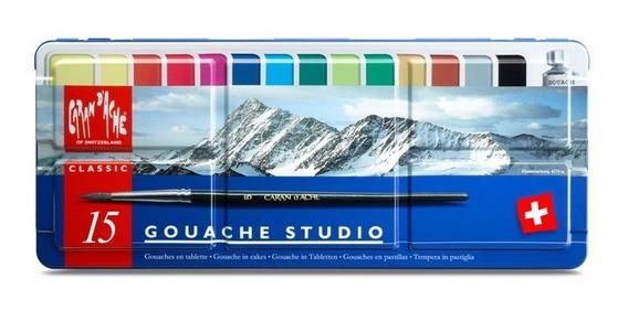 Tinta Guache Caran Dache Studio 8 Cores Tubos