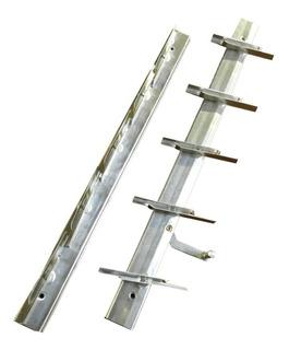 Ventiluz Mecanismo Aireador 5 Vidrios Aluminio Natural Casa