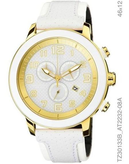 Relógio Citizen Feminino Branco E Dourado Couro Tz30133b