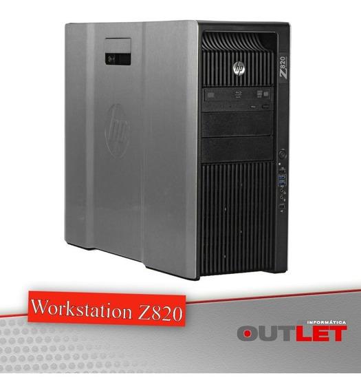 Workstation Hp Z820 X2 Xeon E5-2670 2.60 Ghz 32 Gb Ssd 256gb