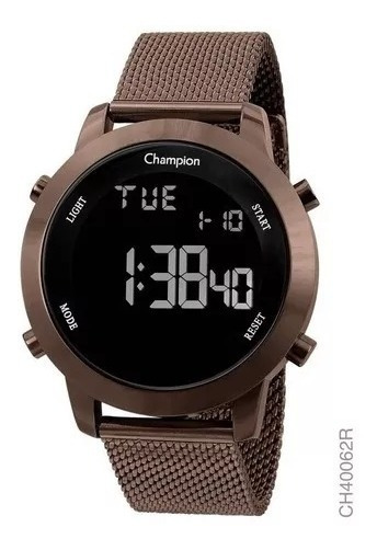 Relógio Feminino Chocolate Champion Original Lançamento Digital