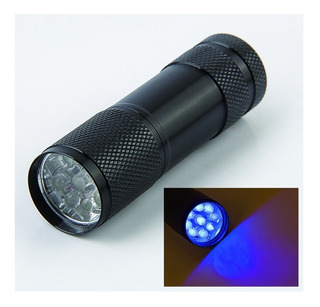 Lanterna Uv Ultra Violeta Luz Negra Tática Caça Nota Falsa