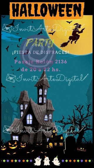 Invitación Digital Halloween Fiesta Disfraces. I