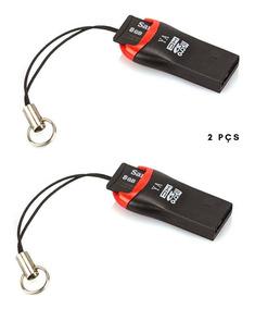 Leitor Cartão De Memoria Adaptador Pen Drive Usb Com 2 Pçs