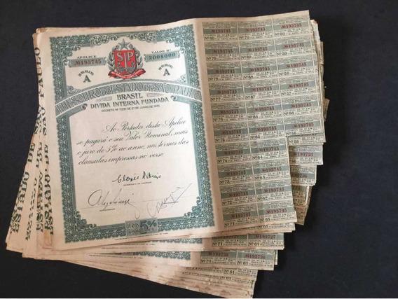 10 Apolices 1935 Thesouro Do Estado De São Paulo 200$000
