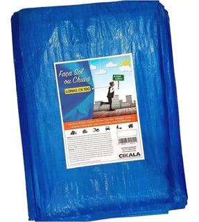 Lona 3x2 Azul Plastica Impermeavel Festa Telhado Campimg